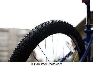 roue, montagne, bike.