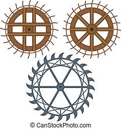 roue, moulin