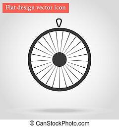 roue, plat, fortune, icône
