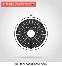 roue, plat, fortune, vecteur, conception, ombre, icône