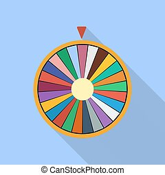 roue, plat, icône, fortune, chance