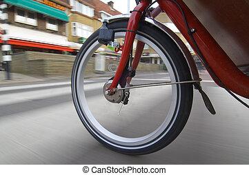 roue, rotation, vélo