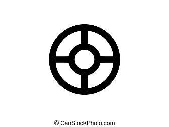 roue, scandinave, wiccan, vecteur, blanc, symbole, antiquité, isolé, fond, sacré, wheel., taranis