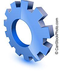 roue, symbole, engrenage