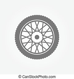 roue, symbole, ou, icône