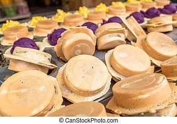 roue, taiwanais, tartes, collations