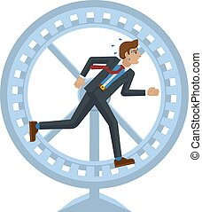 roue, tension, concept, business, courant, hamster, homme