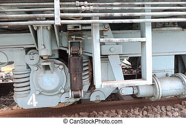 roue,  train, vieux, vapeur