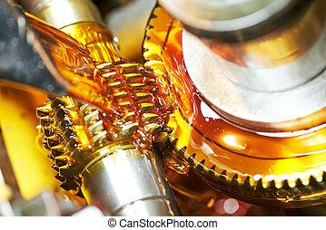 roue, usinage, métal, engrenage, dent