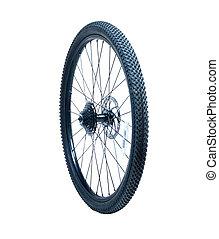 roue, vélo, dehors, cassette, isolé