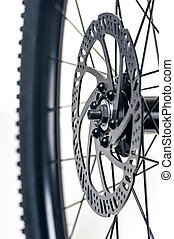 roue, vélo, gros plan, elitement