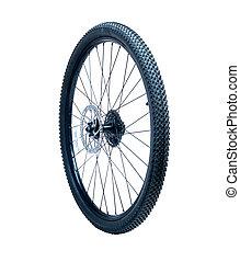roue, vélo, isolé, disque, frein, extérieur