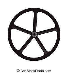 roue, vélo, silhouette
