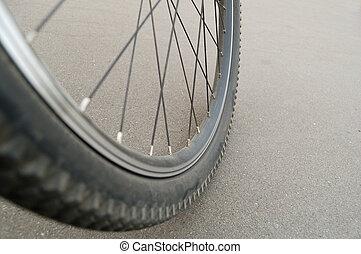 roue, vélo tout terrain