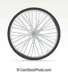 roue, vélo, vecteur