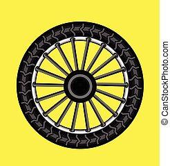 roue, vecteur