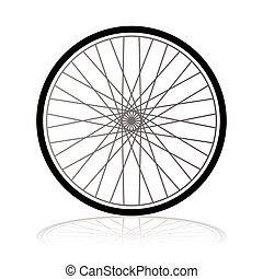 roue, vecteur, vélo