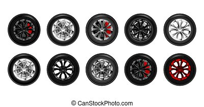 roue, voiture, collection