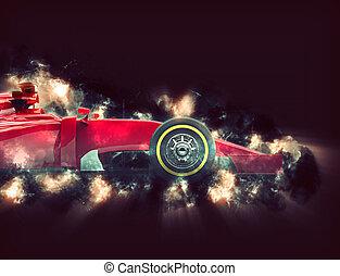 roue, voiture, devant, formule