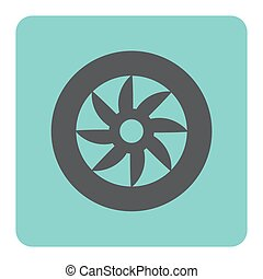 roue, voiture, icône