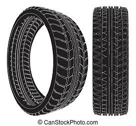 roue, voiture, pneu
