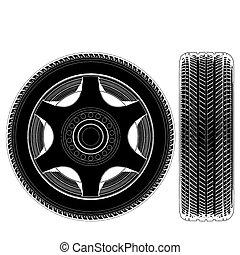 roue voiture, pneu