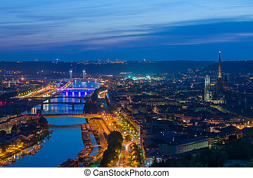 Rouen at night