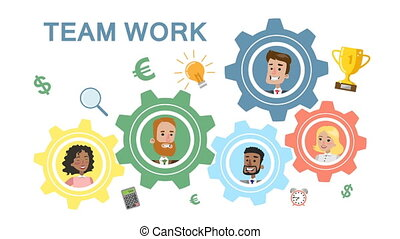 roues, concept, teamwork., dent