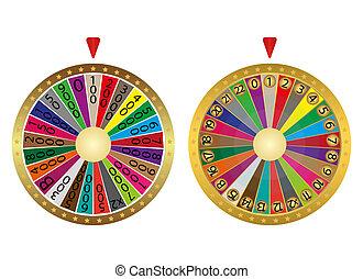 roues, fortune, deux