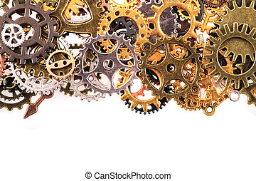roues, machine, temps