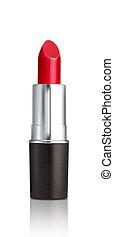 rouge lèvres, rouges, isolé