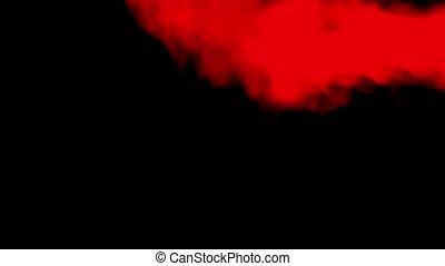 rouge noir, fumée, isolé