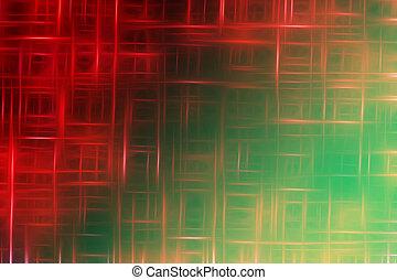 rouge vert, résumé, fond