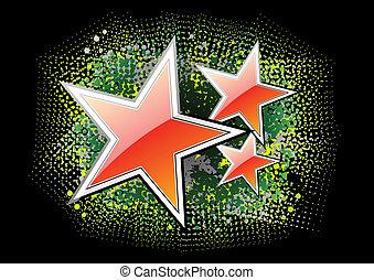 rouges, étoiles