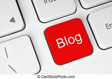 rouges, blog, bouton