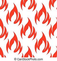 rouges, brûler, flammes, seamless, modèle, fond