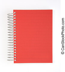 rouges, cahier, isolé