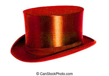 rouges, chapeau, claque