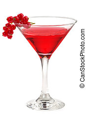 rouges, cocktail, groseille