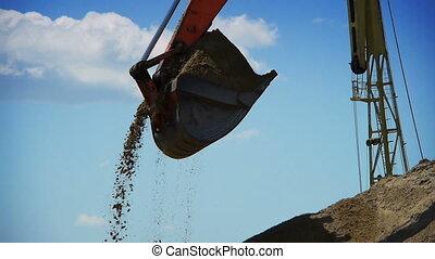 rouges, construction, fonctionnement, excavateur, site