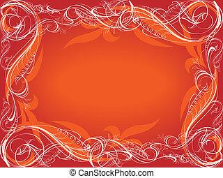 rouges, décoratif, fond