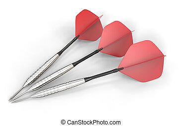 rouges, darts.