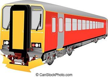 rouges, diesel, train