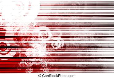 rouges, données, réseau, internet