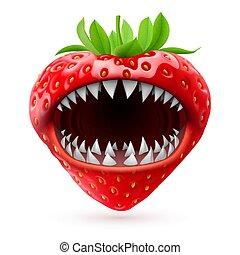 rouges, fraises