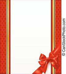 rouges, gabarit, carte voeux, arc