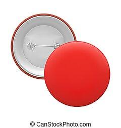 rouges, isolé, vide, rond, épingle, fond, blanc