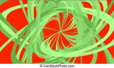 rouges, lignes, vert, spirale