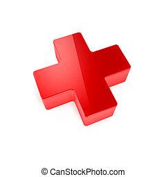 rouges, monde médical, croix