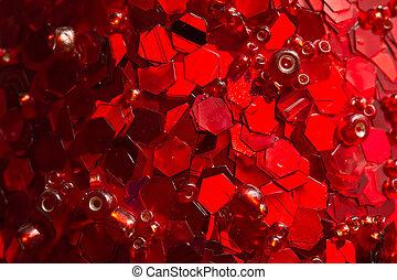 rouges, noël, fond